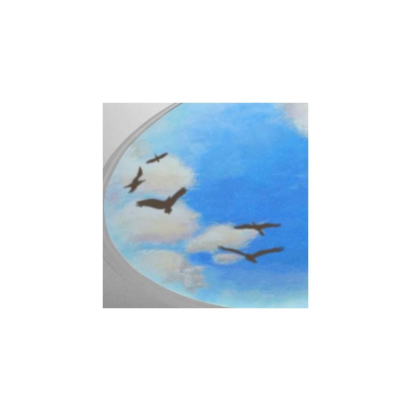 Stencil Pared Animal 001 Pajaros Volando