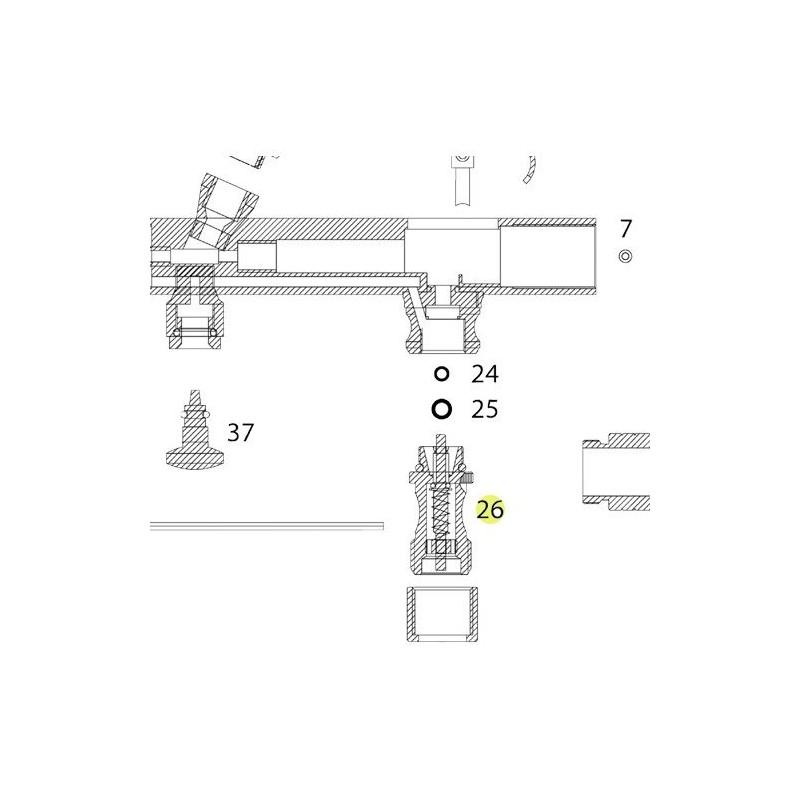 Recambio Válvula Aire Aerografo Elite 7185