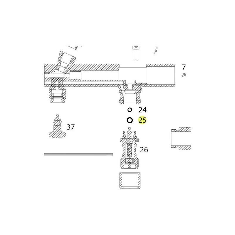 Recambio Junta Válvula Aire Aerografo Elite 7185