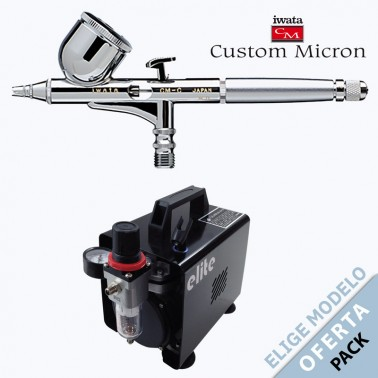 Pack Aerógrafo Iwata Custom Micron a Elegir