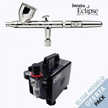Oferta Pack Aerógrafo Iwata Eclipse a Elegir