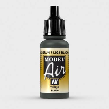 RLM70 Schwarzgrün (Verde Negro) Aerografia Model Air 71.021 Vallejo 17ml