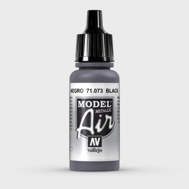 Negro Metal Aerografia Model Air 71.073 Vallejo 17ml