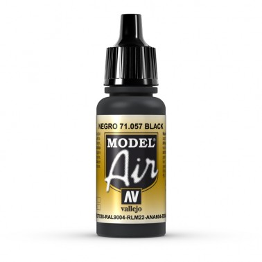 Negro Aerografia Model Air 71.057 Vallejo 17ml