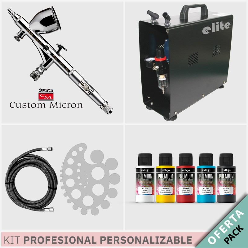Oferta Kit Aerografía Personalizable Profesional