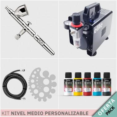 Oferta Kit Aerografía Personalizable Nivel Medio