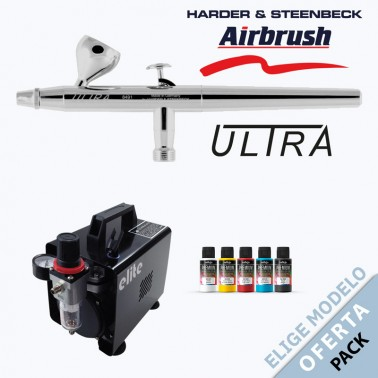 Oferta Pack Aerógrafo Harder Ultra a Elegir