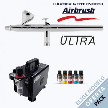 Oferta Pack Aerógrafo Harder Ultra a Elegir