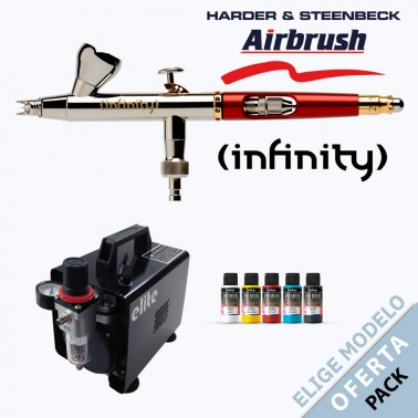 Oferta Pack Aerógrafo Harder Infinity a Elegir