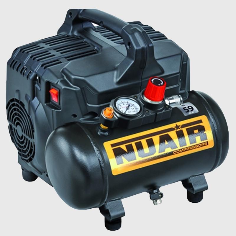 Compresor Nuair Siltek+ Silen. 8bar 105LxMin 6L