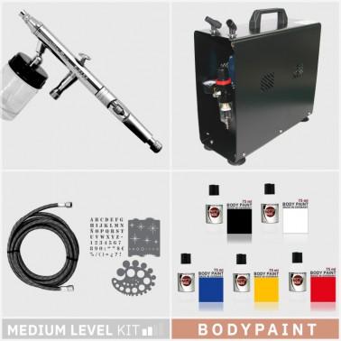 Kit Aerografía Bodypaint Nivel Medio
