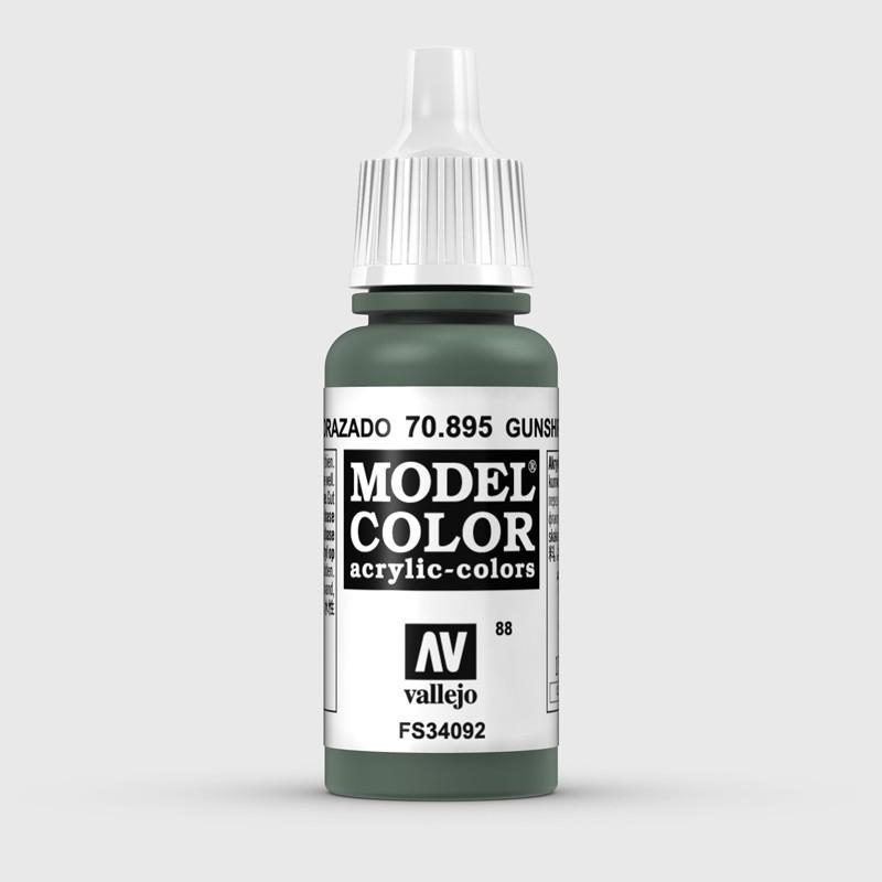 Pintura Aerografia Model Color 70.895 Verde Acorazado Vallejo 17ml.