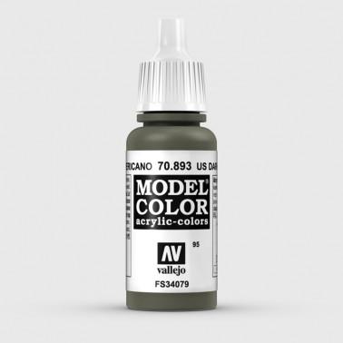 Pintura Aerografia Model Color 70.893 Verde Americano Vallejo 17ml.