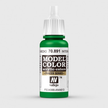 Pintura Aerografia Model Color 70.891 Verde Medio Vallejo 17ml.