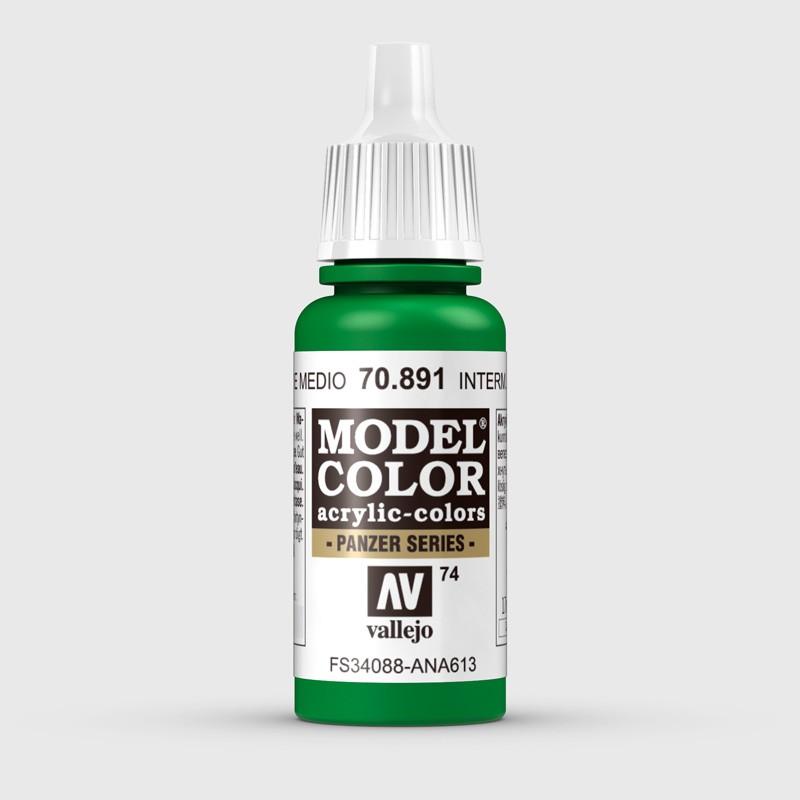 Pintura Aerografia Model Color 70.891 Verde Medio Vallejo 17ml.