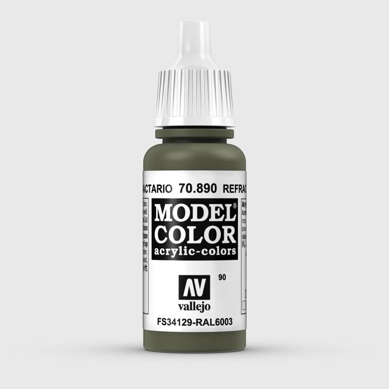 Pintura Aerografia Model Color 70.890 Verde Refractario Vallejo 17ml.
