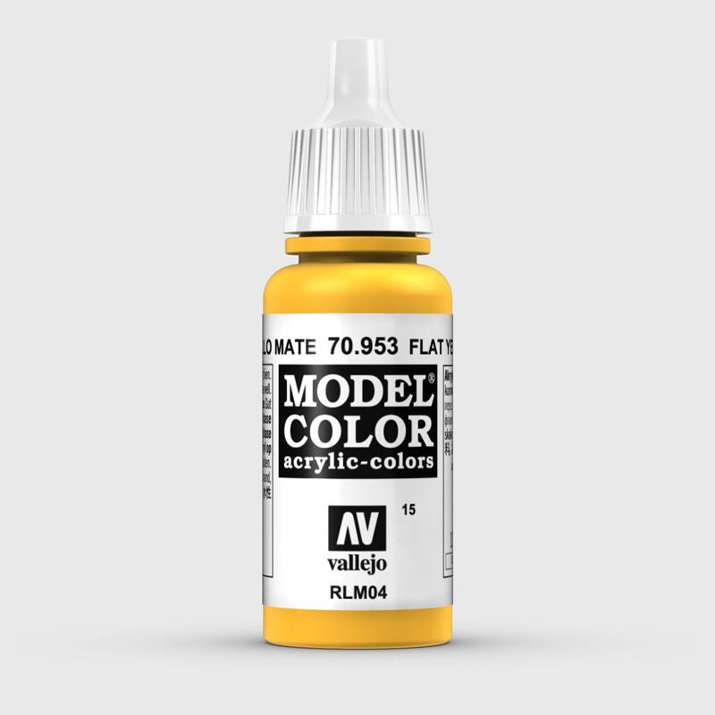 Pintura Aerografia Model Color 70.953 Amarillo Mate Vallejo 17ml.