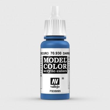 Pintura Aerografia Model Color 70.930 Azul Oscuro Vallejo 17ml.