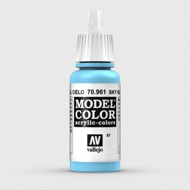Pintura Aerografia Model Color 70.961 Azul Cielo Vallejo 17ml.