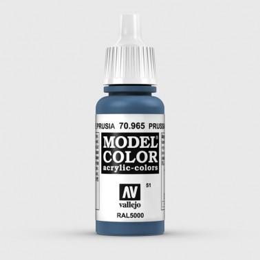 Pintura Aerografia Model Color 70.965 Azul de Prusia Vallejo 17ml.