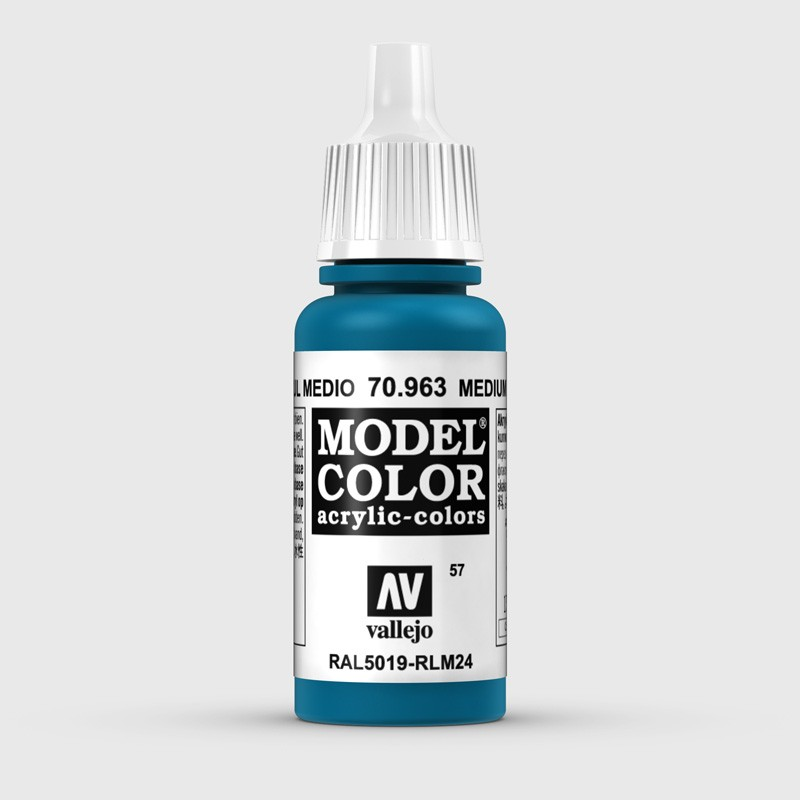 Pintura Aerografia Model Color 70.963 Azul Medio Vallejo 17ml.