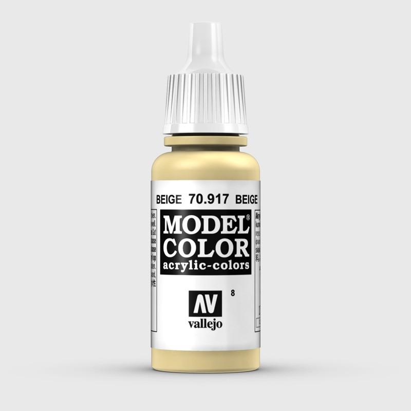 Pintura Aerografia Model Color 70.917 Beige Vallejo 17ml.