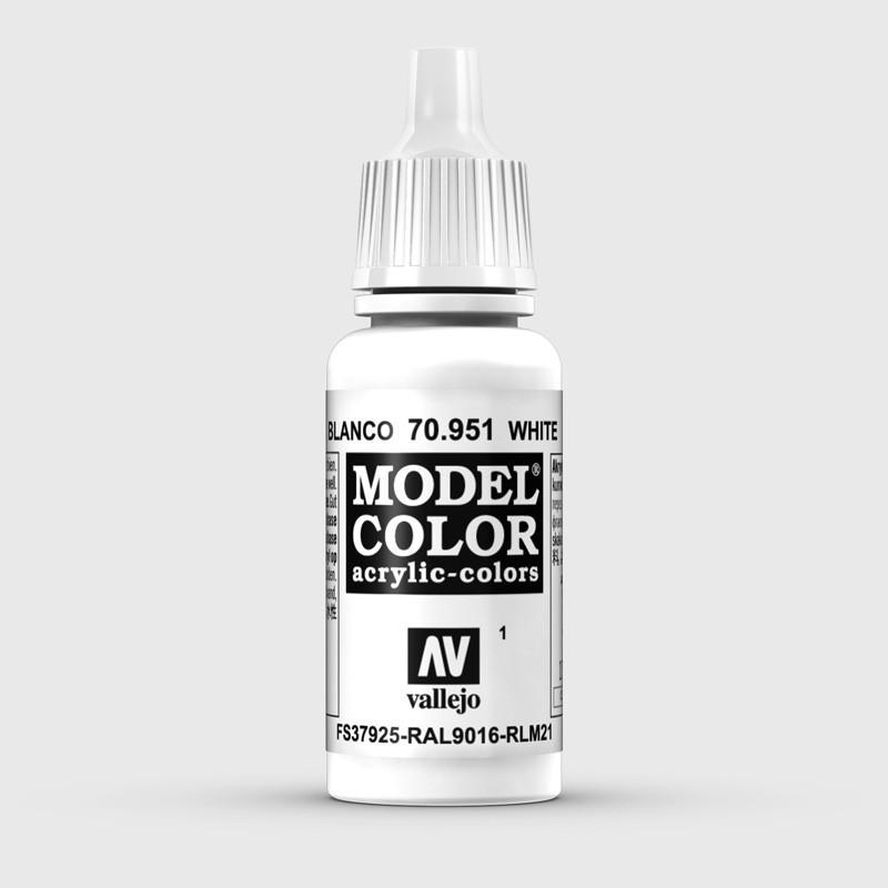 Pintura Aerografia Model Color 70.951 Blanco Vallejo 17ml.