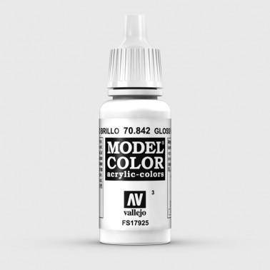 Pintura Aerografia Model Color 70.842 Blanco Brillo Vallejo 17ml.