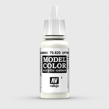 Pintura Aerografia Model Color 70.820 Blanco Pergamino Vallejo 17ml.
