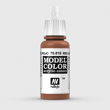 Pintura Aerografia Model Color 70.818 Cuero Rojo Vallejo 17ml.