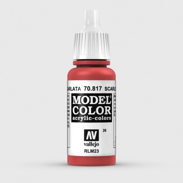 Pintura Aerografia Model Color 70.817 Escarlata Vallejo 17ml.
