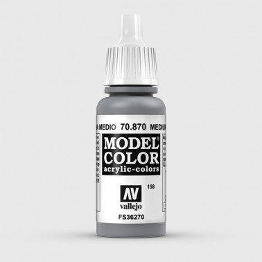 Pintura Aerografia Model Color 70.870 Gris Marina Medio Vallejo 17ml.