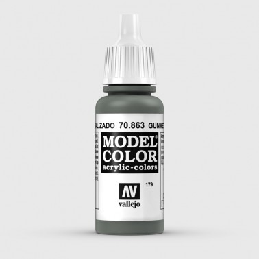 Pintura Aerografia Model Color 70.863 Gris Metalizado Vallejo 17ml.