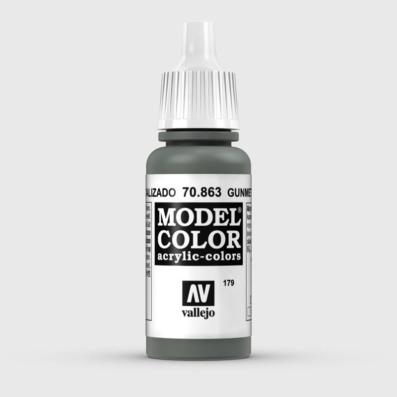 Pintura Aerografia Model Color 70.863 Gris Metalizado Vallejo 17ml.