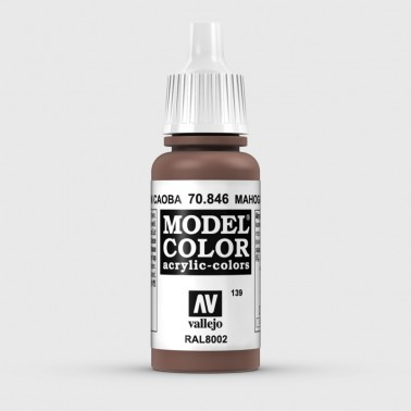 Pintura Aerografia Model Color 70.846 Marrón Caoba Vallejo 17ml.