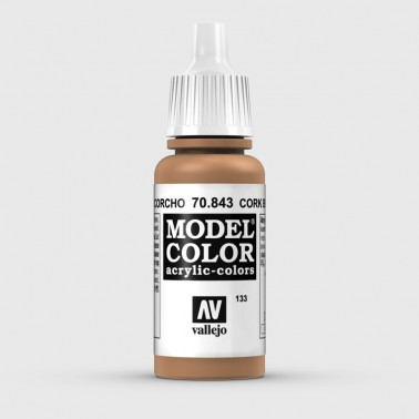 Pintura Aerografia Model Color 70.843 Marrón Corcho Vallejo 17ml.