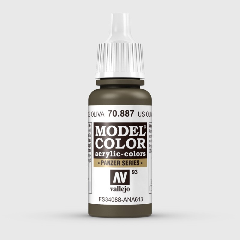 Pintura Aerografia Model Color 70.887 US Verde Oliva Vallejo 17ml.