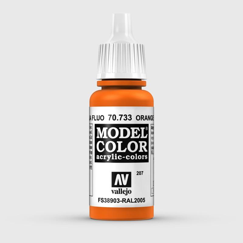 Pintura Aerografia Model Color 70.733 Naranja Fluo Vallejo 17ml.