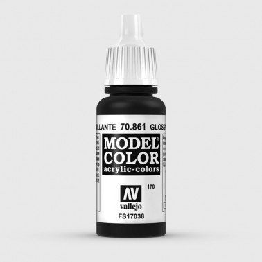 Pintura Aerografia Model Color 70.861 Negro Brillante Vallejo 17ml.