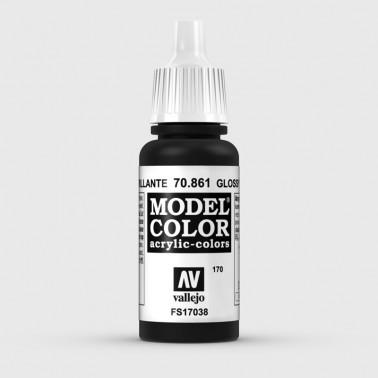 Pintura Aerografia Model Color 70.861 Negro Brillante Vallejo 17ml.