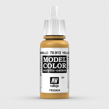 Pintura Aerografia Model Color 70.913 Ocre Amarillo Vallejo 17ml.
