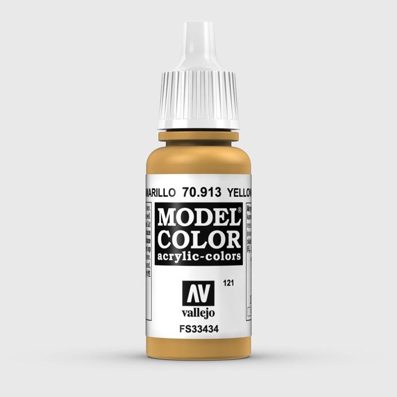Pintura Aerografia Model Color 70.913 Ocre Amarillo Vallejo 17ml.