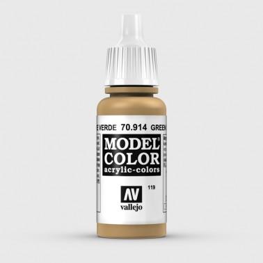 Pintura Aerografia Model Color 70.914 Ocre Verde Vallejo 17ml.