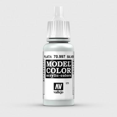 Pintura Aerografia Model Color 70.997 Plata Vallejo 17ml.