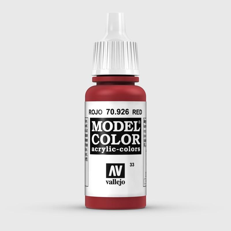 Pintura Aerografia Model Color 70.926 Rojo Vallejo 17ml.