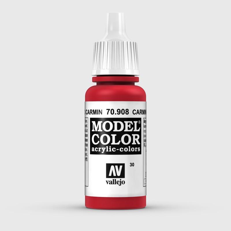 Pintura Aerografia Model Color 70.908 Rojo Carmin Vallejo 17ml.