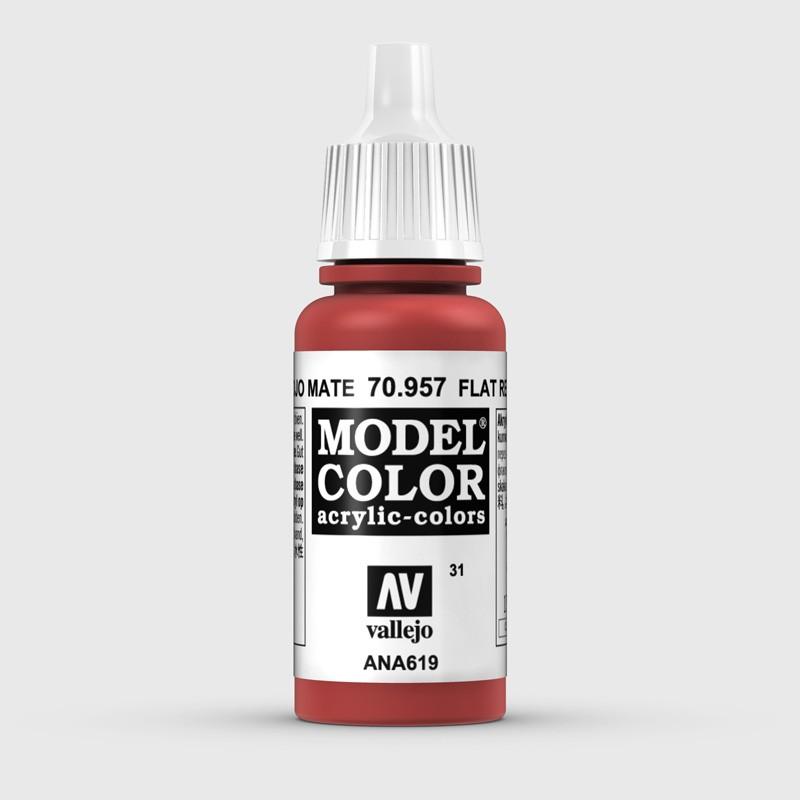 Pintura Aerografia Model Color 70.957 Rojo Mate Vallejo 17ml.