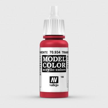 Pintura Aerografia Model Color 70.934 Rojo Transparente Vallejo 17ml.