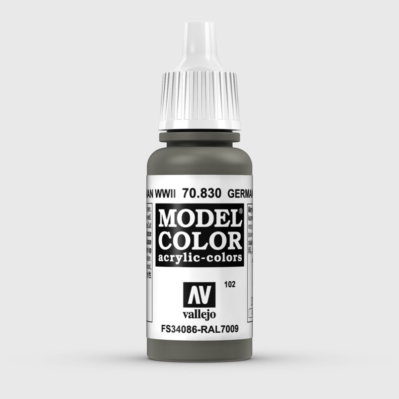 Pintura Aerografia Model Color 70.830 Verde Alemán WWII Vallejo 17ml.