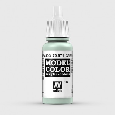 Pintura Aerografia Model Color 70.971 Verde Gris Pálido Vallejo 17ml.